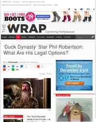 'Duck Dynasty' Star Phil Robertson: What Are His Legal Options?